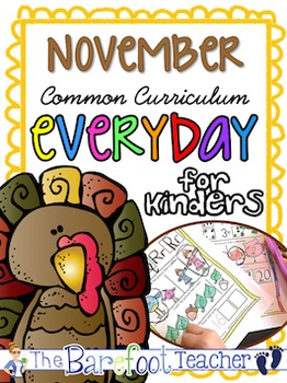 Thanksgiving Activities - Kindergarten Morning Work {November}