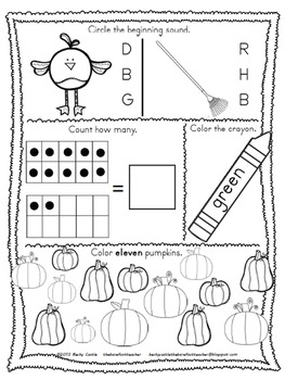 Thanksgiving Activities - Kindergarten Morning Work {November}