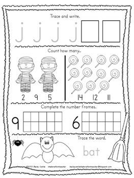 FREE Kindergarten Morning Work {October}