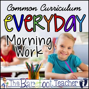 Kinder Morning Work Bundle - 10 packs Common Core Aligned (Distance Learning)