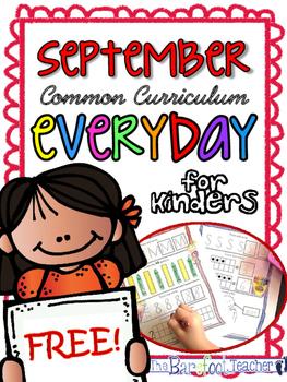 Back to School - FREE Kindergarten Morning Work {September}