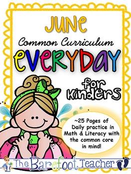 End of the Year Activities - Kindergarten Morning Work {June}
