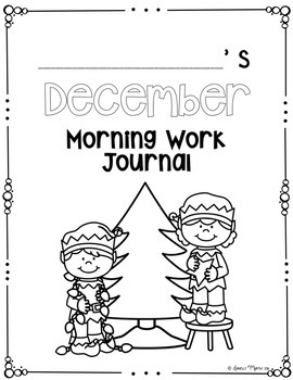 December NO PREP Kindergarten Morning Work