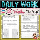 ELA Morning Warm-Up Work - 18 weeks