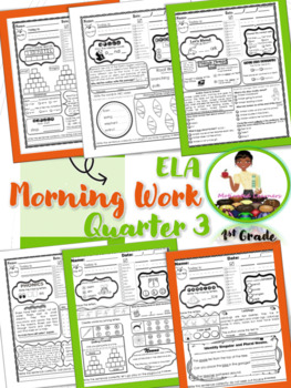 First Grade Morning Work ELA (3rd Qtr) Reading Skills Review