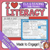 ELA and Reading Worksheets Spiral Review Distance Learning Packets