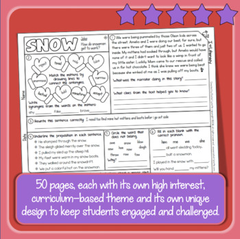 ELA Spiral Review Google Classroom Distance Learning Packet Print and Slides