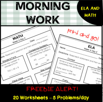 Morning Work CCSS