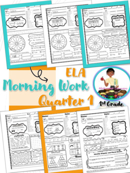 First Grade Morning Work-ELA (Reading Skills Review) 1st Qtr Sampler