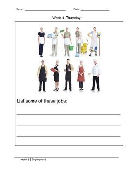 Morning Work- Employment