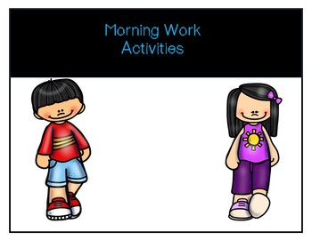 Morning Work/End of the Year Review for Prek/Summer Review
