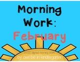 Morning Work: February