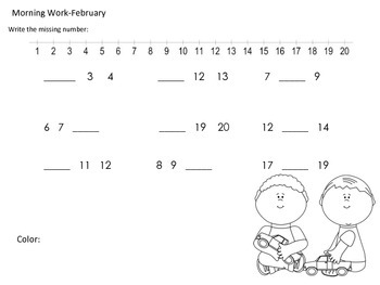 Morning Work February-Common Core Math aligned