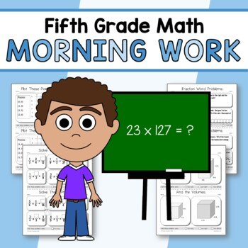 Morning Work Fifth Grade Math Common Core Distance Learning