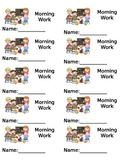 Student File Folder Labels (Morning Work, ELA, Math, Data