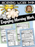 Morning Work First Grade 3rd Quarter | Reading Comprehension