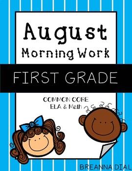 Morning Work First Grade {August}