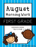Morning Work First Grade {August}