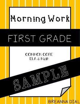 Morning Work First Grade {Freebie/Sample}