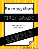 Morning Work First Grade {Freebie/Sample}