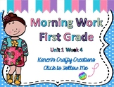 Morning Work First Grade: Reading Wonders Unit 1 Week 4