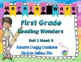 Morning Work First Grade: Reading Wonders Unit 2 Week 4