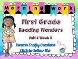 Morning Work First Grade: Reading Wonders Unit 3 Week 5