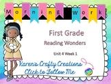 Morning Work First Grade: Reading Wonders Unit 4 Week 1