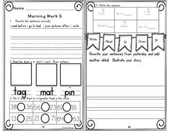 Morning Work First Grade Week 10