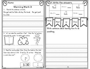 Morning Work First Grade Week 23