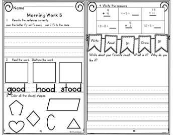 Morning Work First Grade Week 24