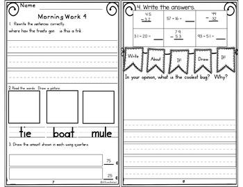 Morning Work First Grade Week 29