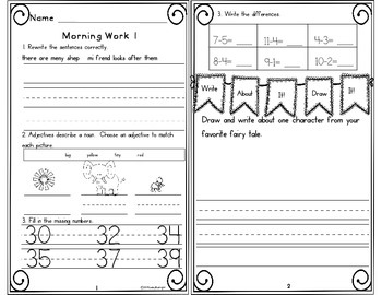 Morning Work First Grade Week 7