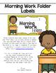 Morning Work Folder Labels