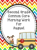 Second Grade Morning Work For August