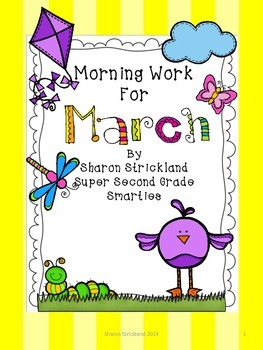 Morning Work For March