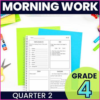 Morning Work: Fourth Grade Set 2 (ELA, Math, Science, and Social Studies)