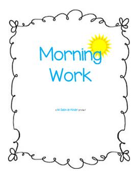 Morning Work Freebie!