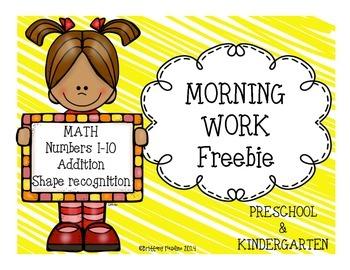 Morning Work Freebie