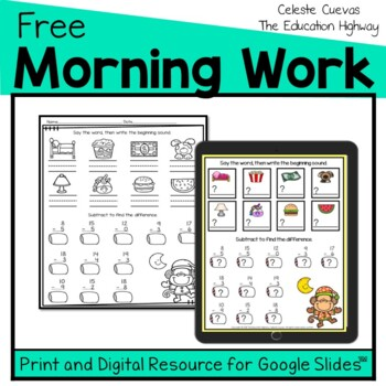Morning Work Freebie   Grade 2