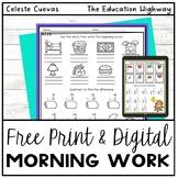 Morning Work Freebie | Grade 2