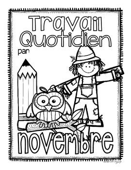 French Daily Work ~ novembre