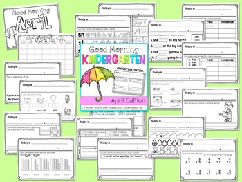 Kindergarten Morning Work {APRIL}