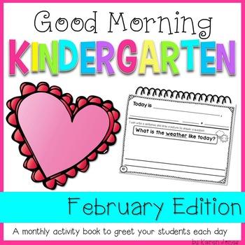 Kindergarten Morning Work {FEBRUARY}