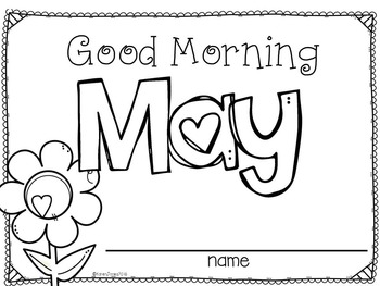 Kindergarten Morning Work {MAY and JUNE}
