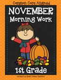 Morning Work Grade One NOVEMBER- PRINT-N-GO!