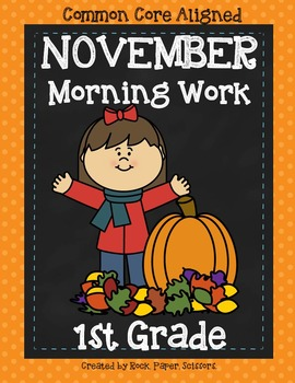 Morning Work Grade One NOVEMBER- PRINT-N-GO!