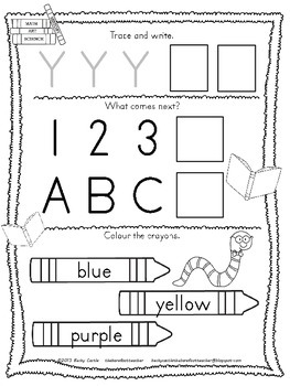 Kindergarten Morning Work - Math & Language Arts {Australian - February}