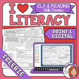 ELA Review, Morning Work  - I Heart Literacy FREEBIE!
