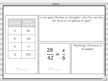 Morning Work: Input Output, Equivalent Fractions, Proportions and Unit Rates
